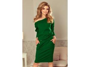 189-3 Sportovní šaty s odštěpem na zádech - tmavě zelená