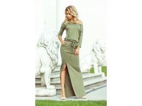 220-1 MAXI sportovní šaty - olivové barvy