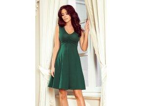238-2 BETTY šaty s výstřihem - zelené