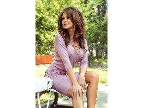 230-5 JANET Sportovní šaty se závaznými - prášek růžový