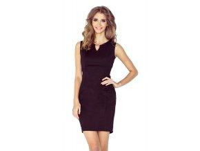 Elegantní šaty s přezkou - cerná MM 005-3