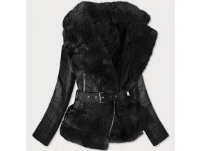 Krátky kožený kabát