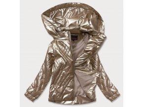 Lesklá prechodná bunda