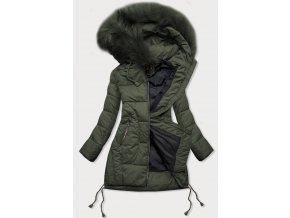 Prešívaná zimná bunda so šnúrkami