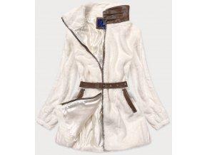 Elegantná huňatá bunda