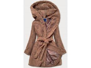 Huňatý kabát s kapucňou