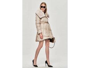 Prešívaný zateplený kabát