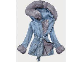 Dlhá zateplená riflová bunda