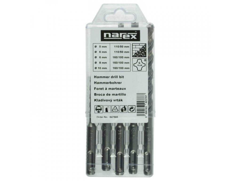Súprava vrtákov Narex 4 PLUS do betónu