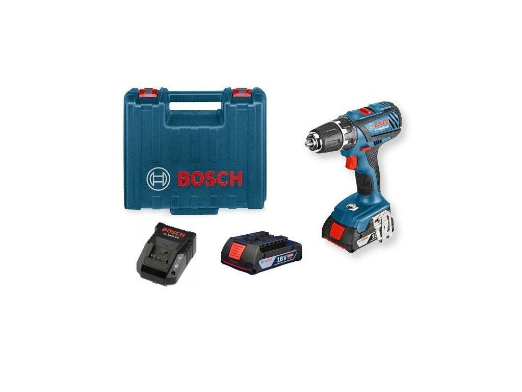 Akumulátorový vŕtací skrutkovač Bosch GSR 18-2-LI Plus