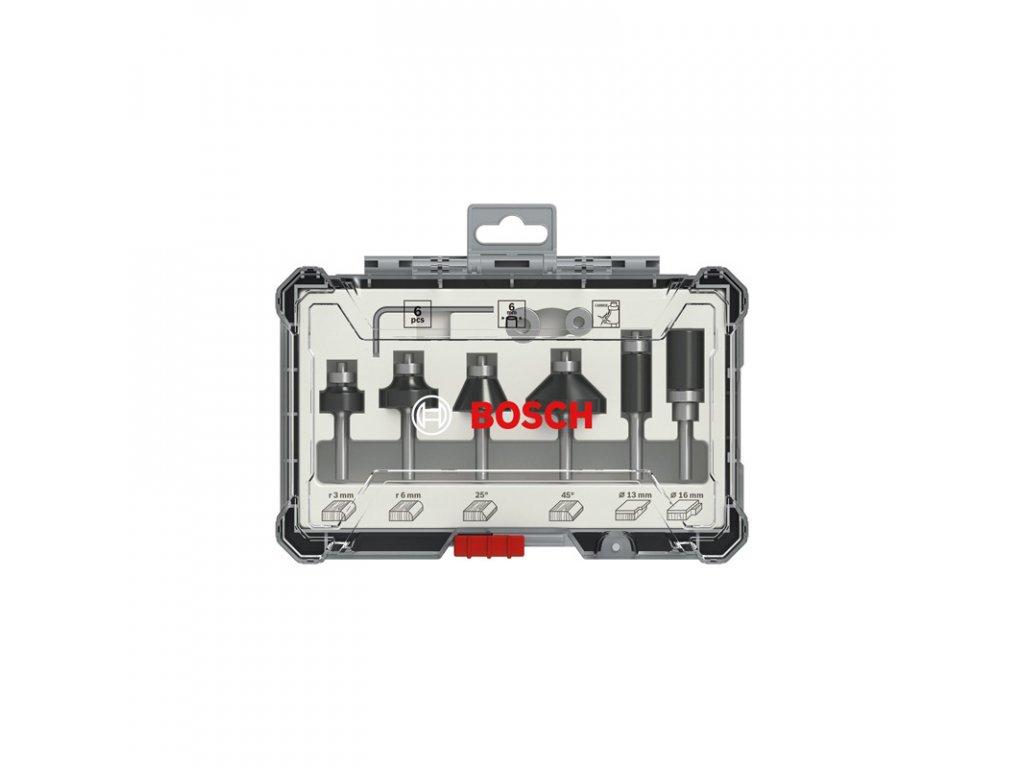 Súprava frézovacích bitov Bosch, zarovnávanie a zaobľovanie, 6 mm driek