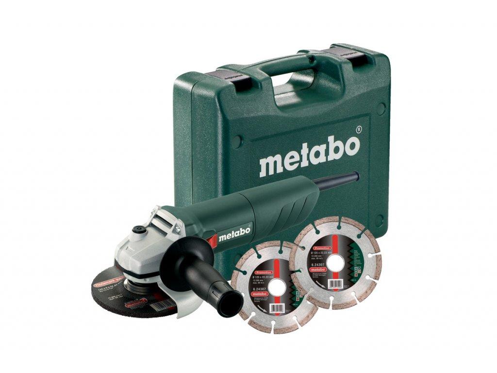 Uhlová brúska Metabo W 850-125 SET