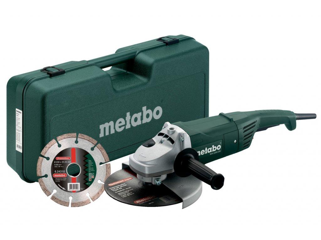 Uhlová brúska Metabo W 2200-230 SET