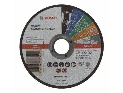 Rovný rezací kotúč Bosch Rapido Multi Construction ACS 60 V BF, 125 mm, 1,0 mm