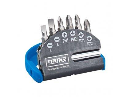 7 dielna (vrecková) súprava skrutkovacích bitov Narex Industrial-CrV