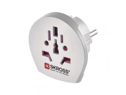 Cestovný adaptér pre cudzincov FRENCH/SCHUKO biely P0055S