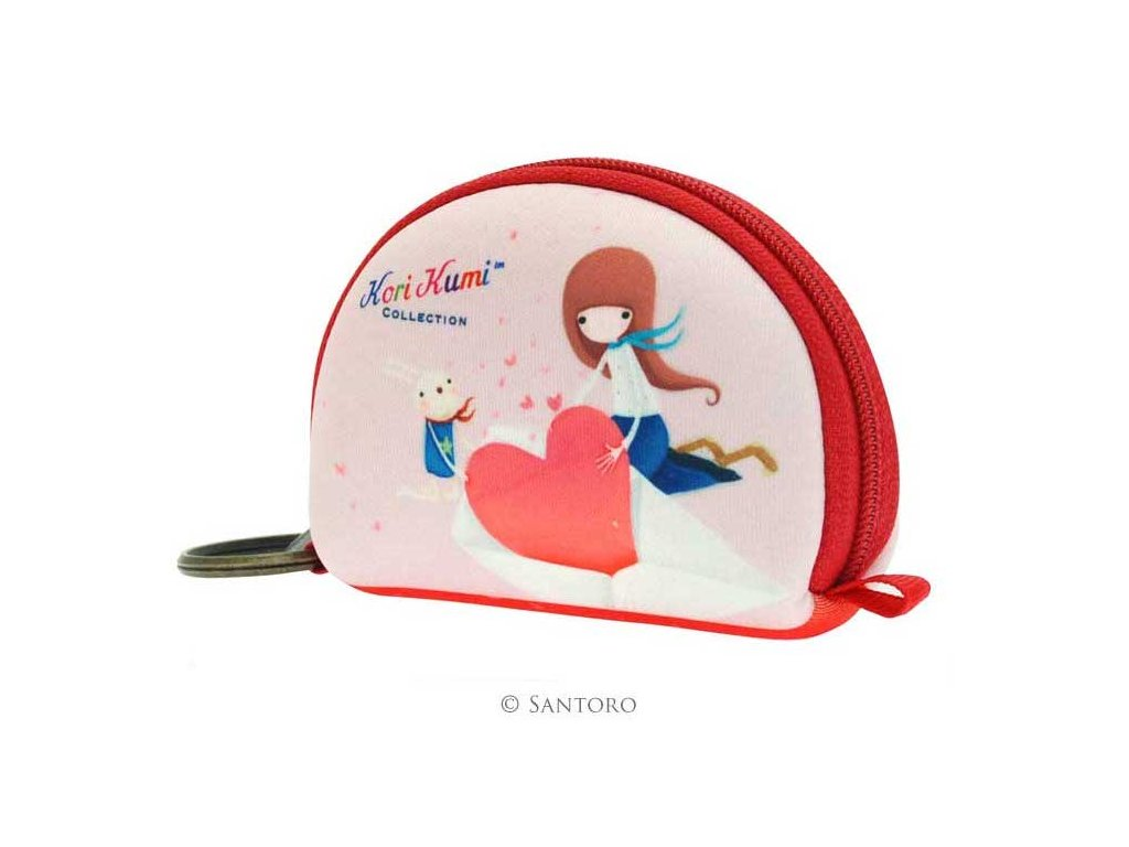 SANTORO - pouzdro/peněženka KORI KUMI - THE SWEET HEART