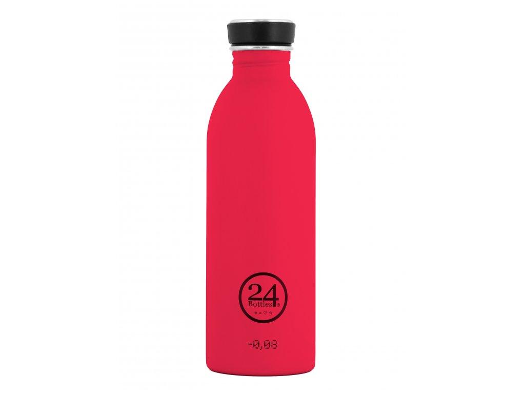 24Bottles - nerezová lahev Urban Bottle 500 ml Hot Red