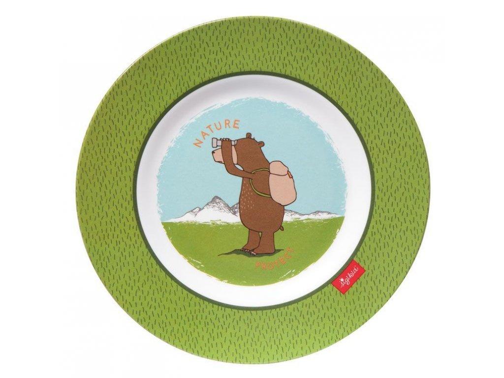Sigikid melamin talíř medvěd FOREST GRIZZLY