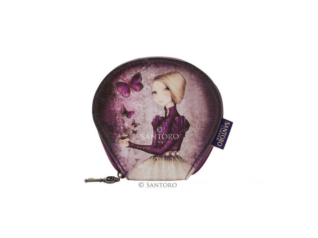 SANTORO - pouzdro/peněženka AMETHYST BUTTERFLY