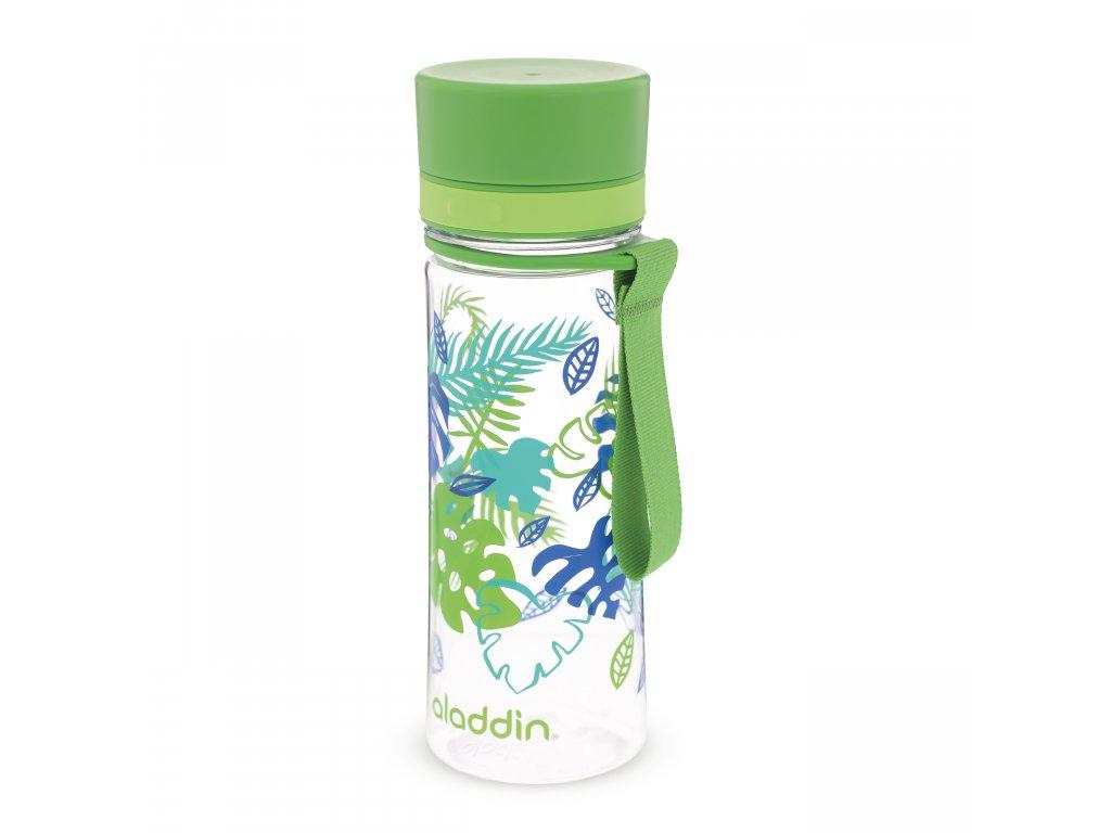 Aladdin láhev na vodu pro kluky do školy Aveo new 350 ml zelená s potiskem 1