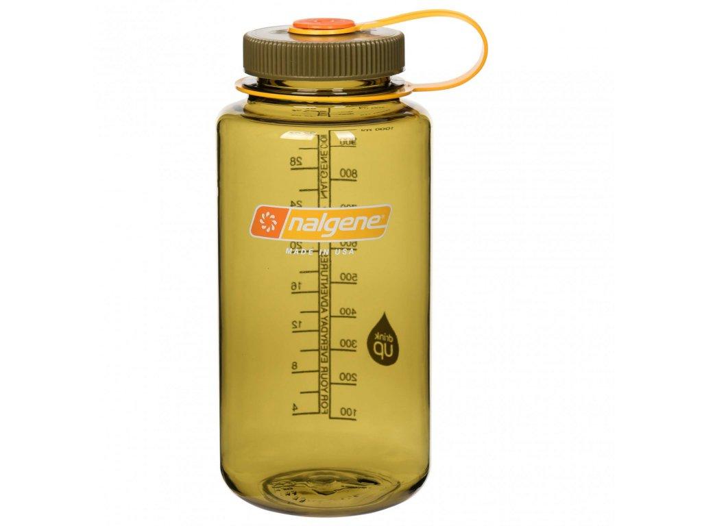 NALGENE láhev na pití Wide Mouth 1000 ml Olive 1