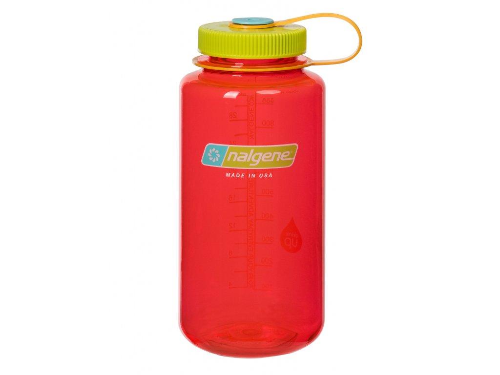 NALGENE láhev na pití Wide Mouth 1000 ml Pomegranate