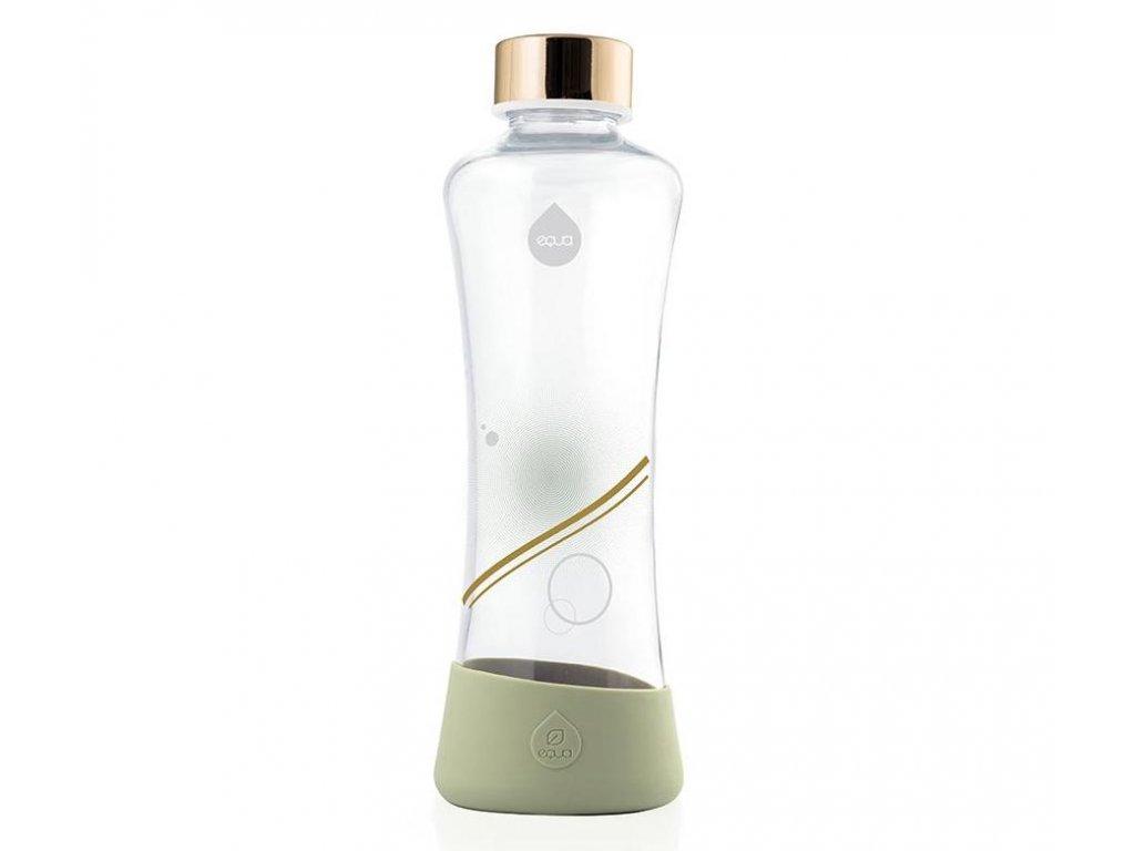 EQUA skleněná láhev na pití Metallic Gold 550 ml 1