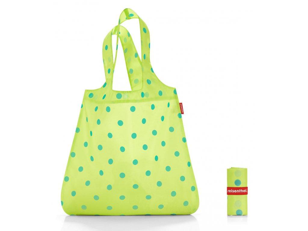 Reisenthel skládací taška MINI MAXI SHOPPER lemon dots 1