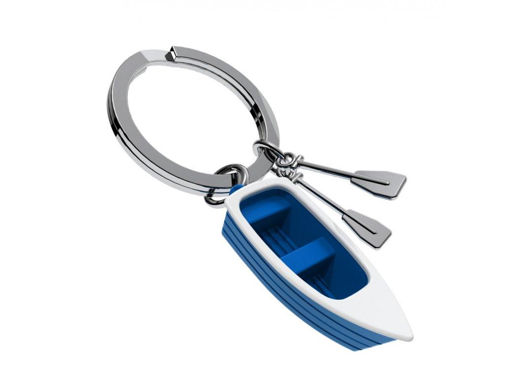MTM přívěsek na klíče Člun s vesly modrý 1