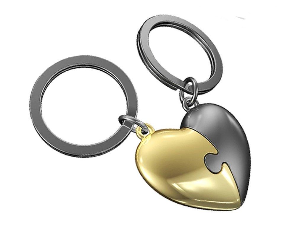 MTM - přívěsek na klíče Srdce puzzle 1