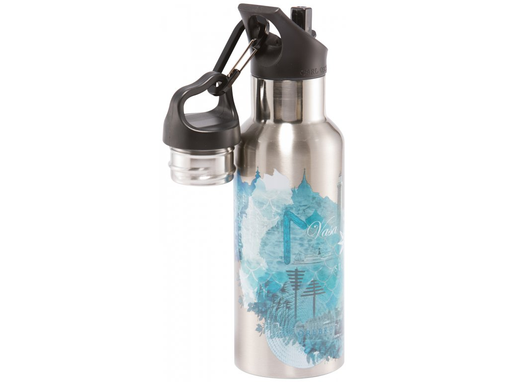 Carl Oscar nerezová lahev Wisdom TEMPflask modrá 500 ml 1