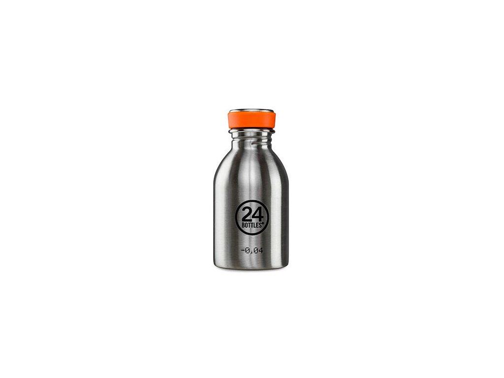 Nerezová lahev 24bottles Urban Bottle 250 ml Steel 1