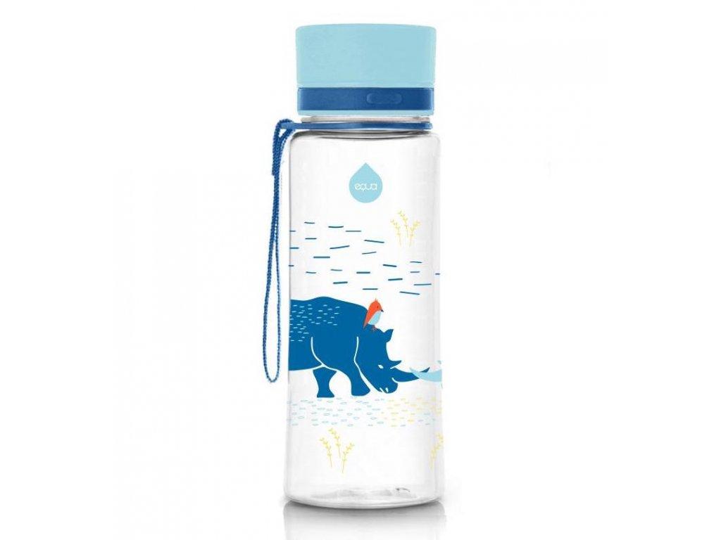 EQUA - láhev na vodu pro děti S nosorožcem 400 ml