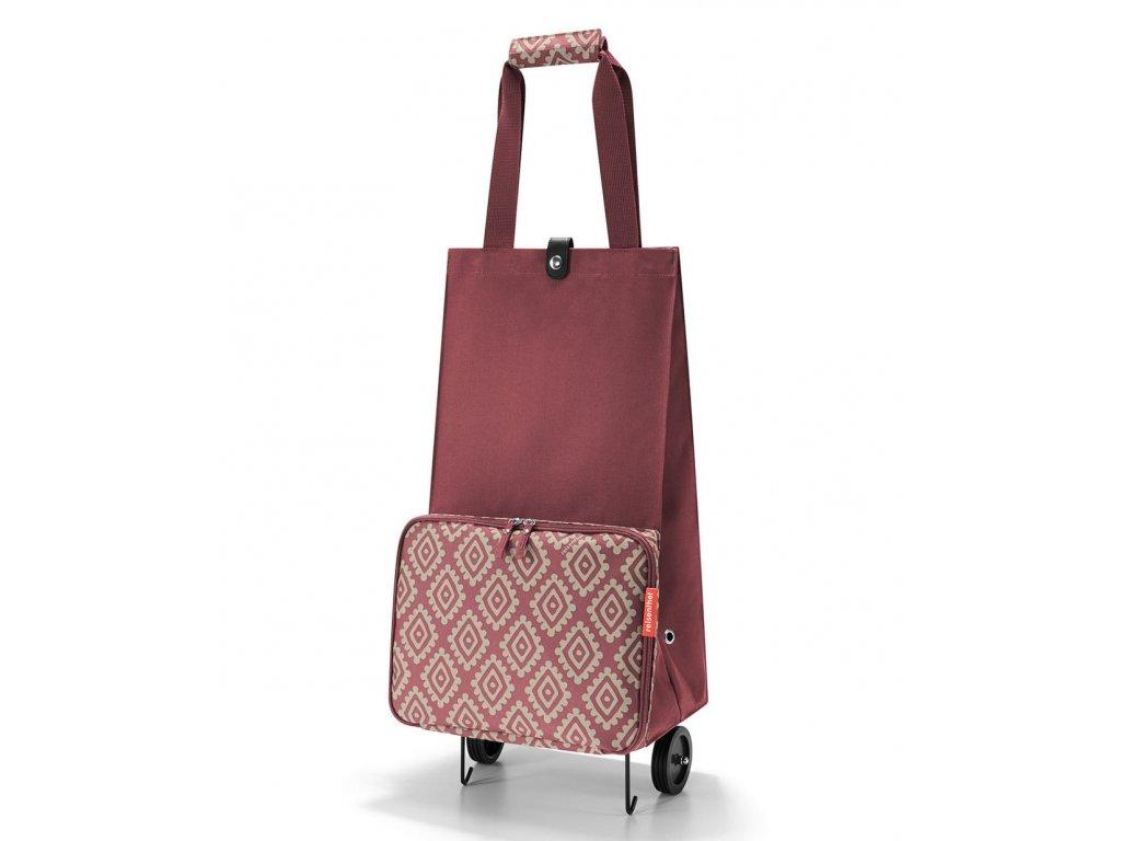 Reisenthel - nákupní taška na kolečkách Foldabletrolley diamonds rouge