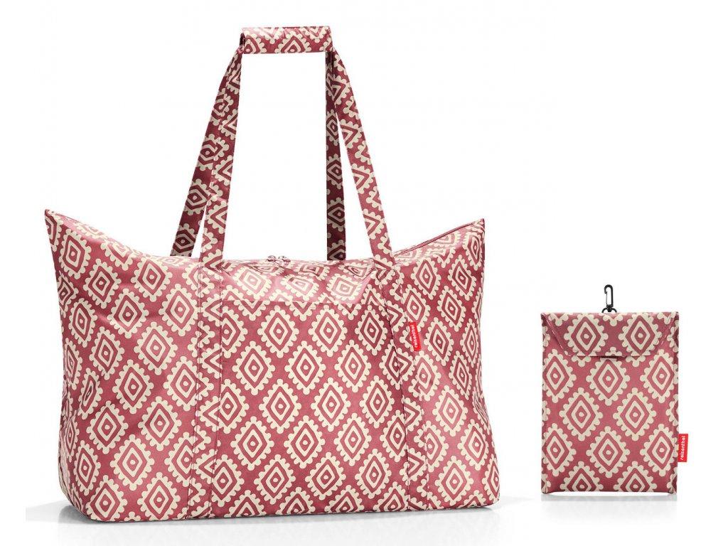 Reisenthel cestovní skládací taška MINI MAXI TRAVELBAG diamonds rouge