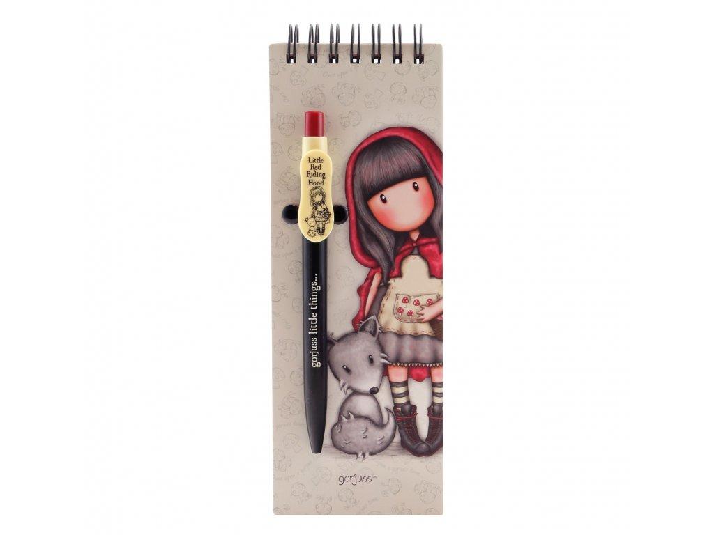 SANTORO zápisník s tužkou Little Red Riding Hood