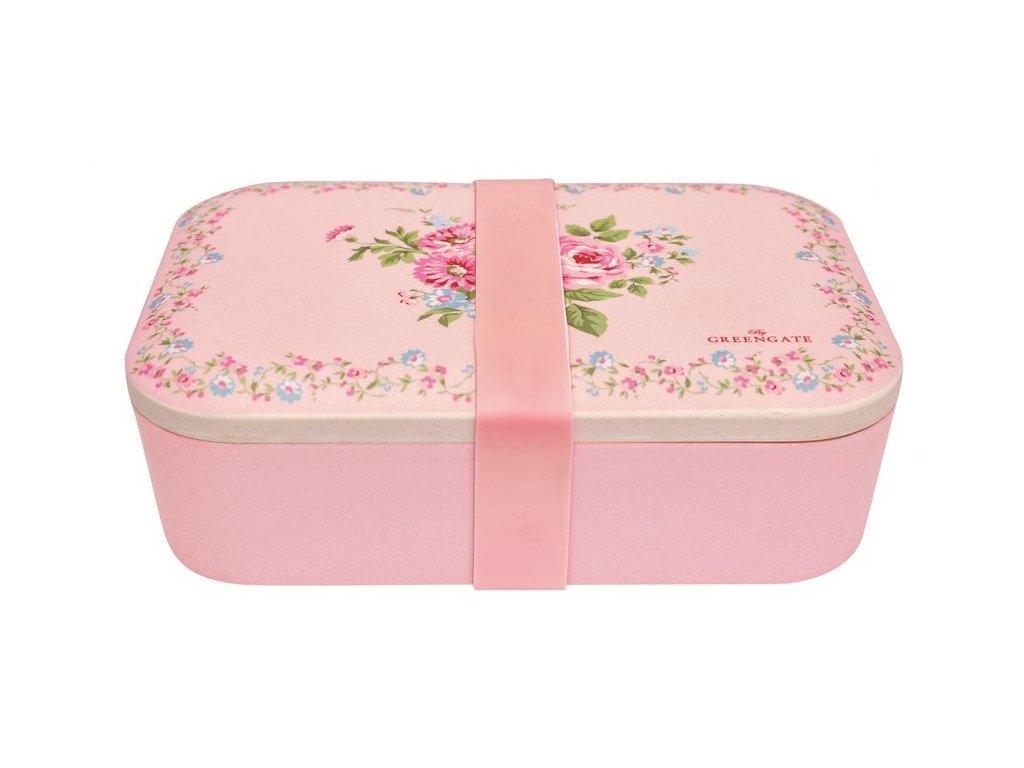 Green Gate bambusový svačinový box Marley Pale Pink 1
