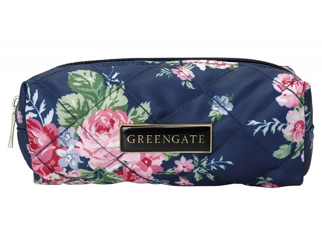 Green Gate romantická kosmetická taška Rose Dark Blue 1