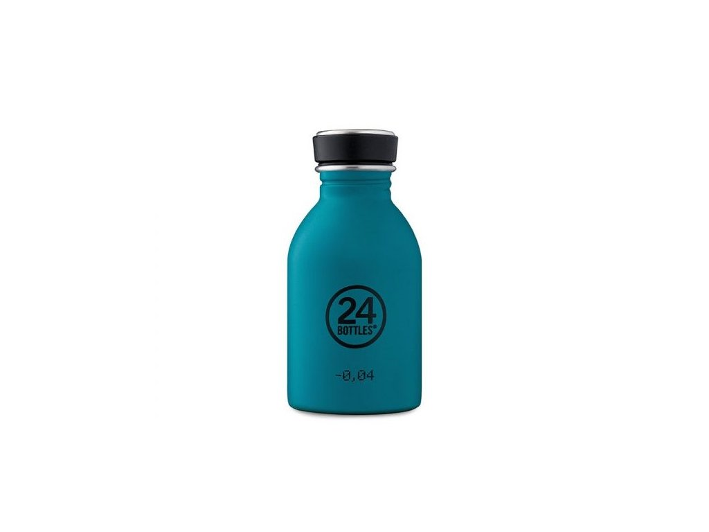 Lehká tyrkysová nerezová lahev na pití 250 ml 1