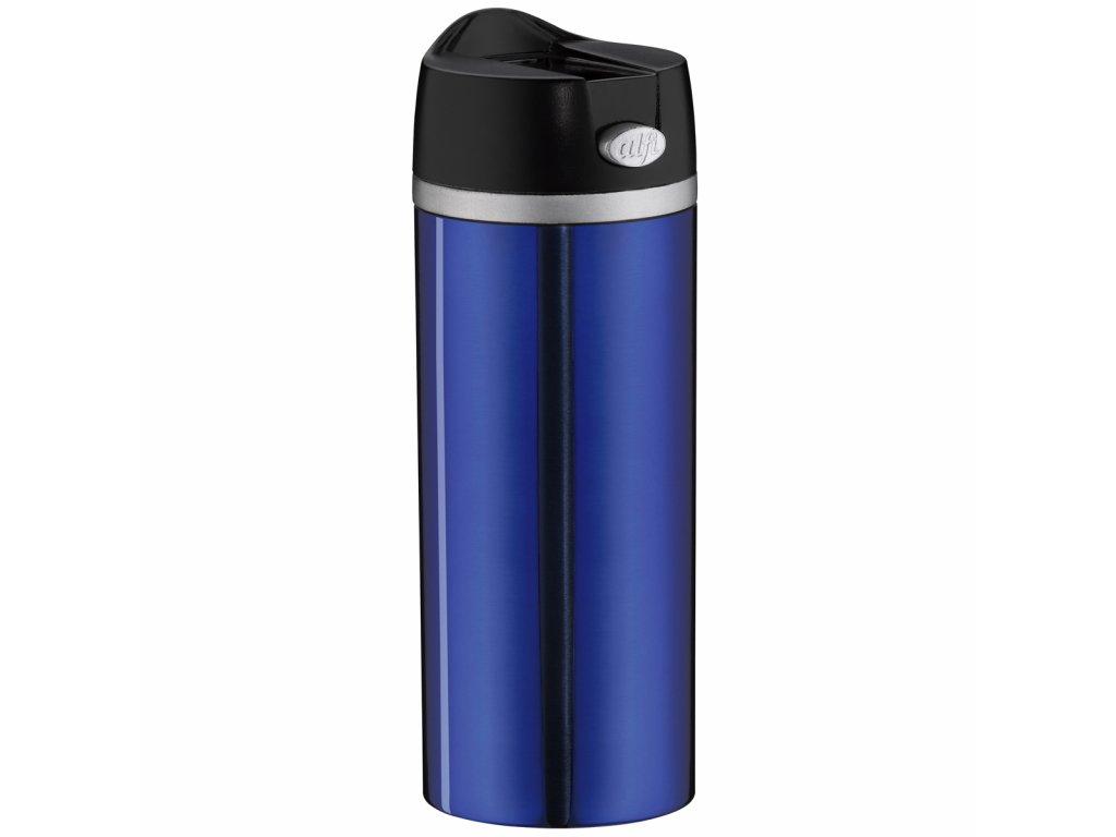 modrý termohrnek na kávu