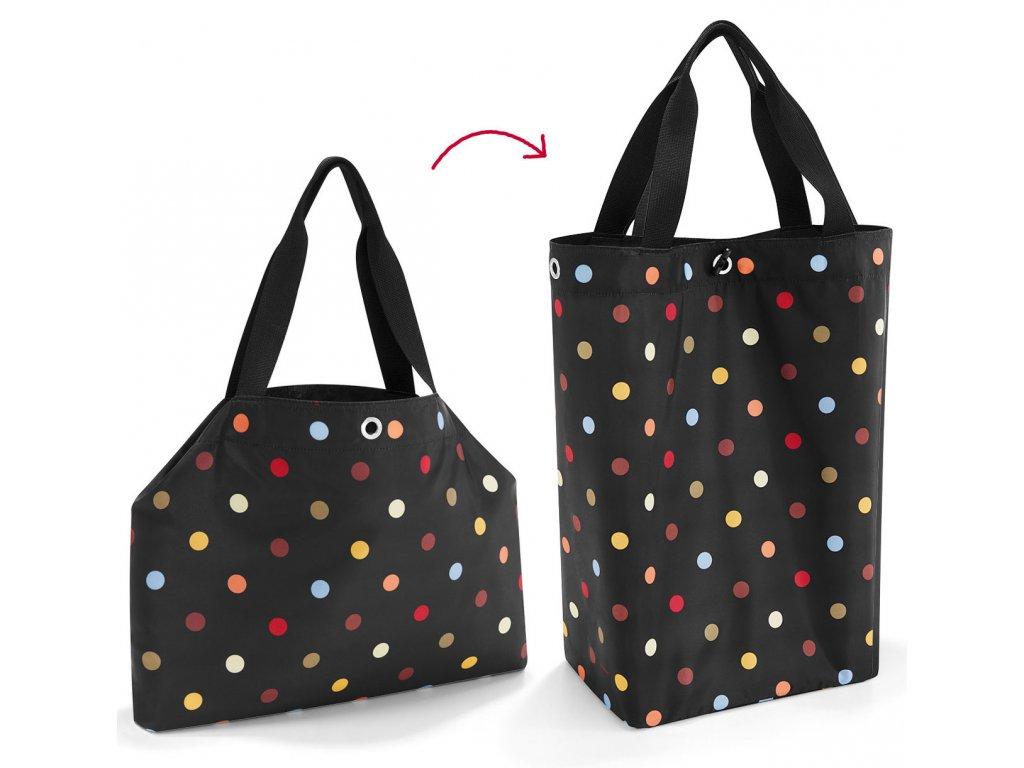 Prostorná nákupní taška s puntíky