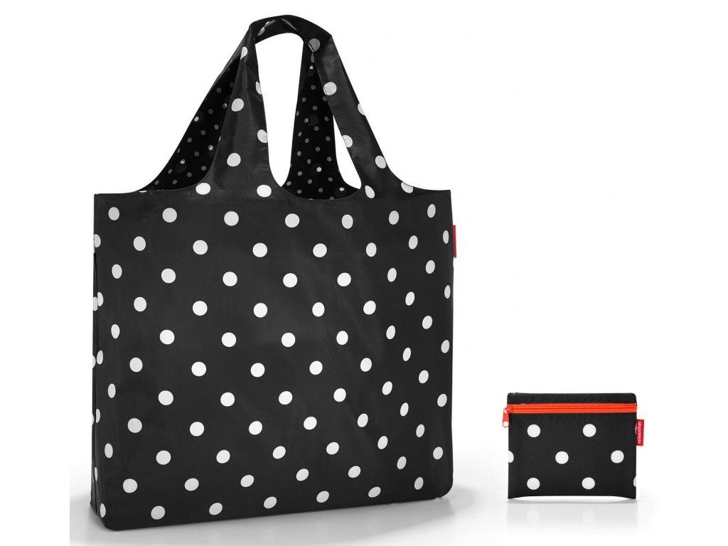 skládací nákupní nebo plážová taška Beachbag mixed dots 1