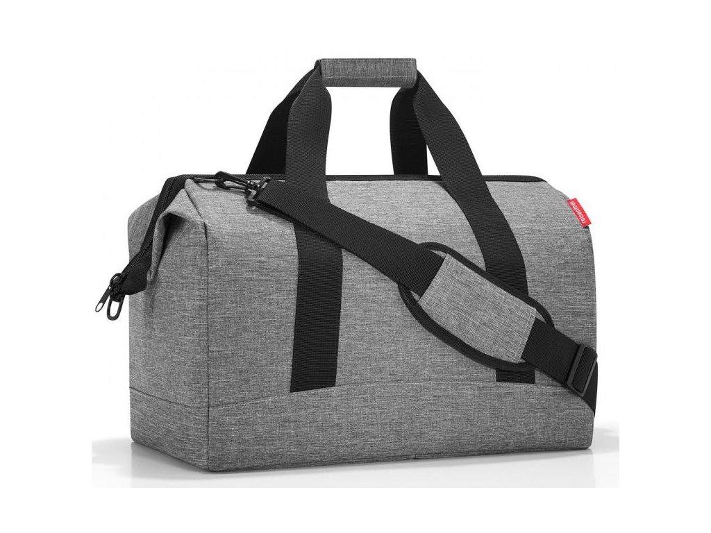 Reisenthel kvalitní prostorná cestovní taška Allrounder L twist silver 1