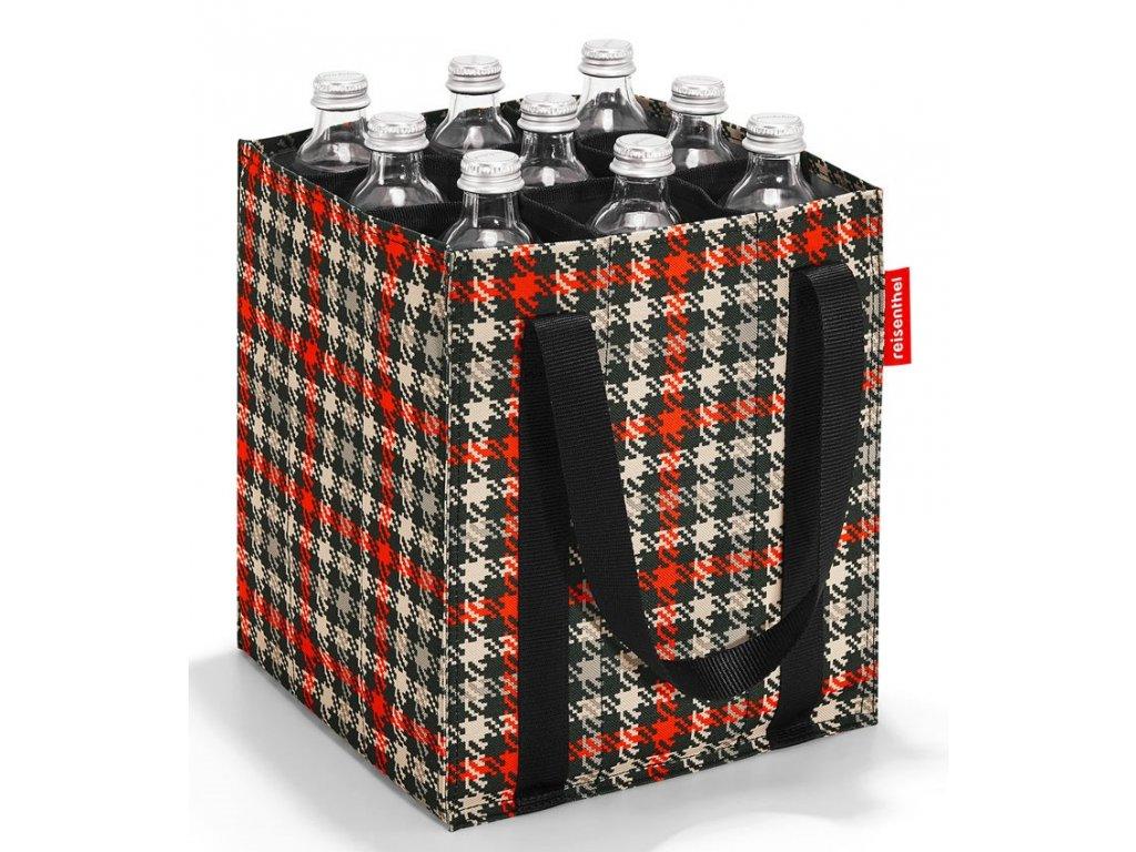 Taška na lahve červeno šedá - 1