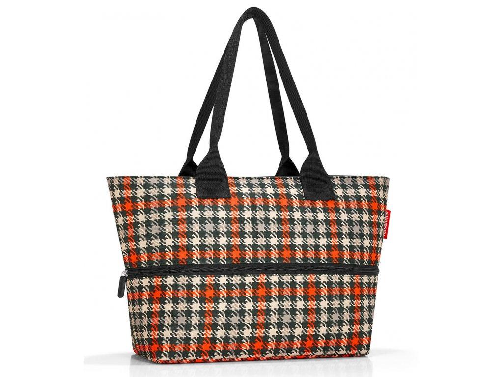 Reisenthel rozkládací nákupní taškapřes rameno Shopper e1 glencheck red 1