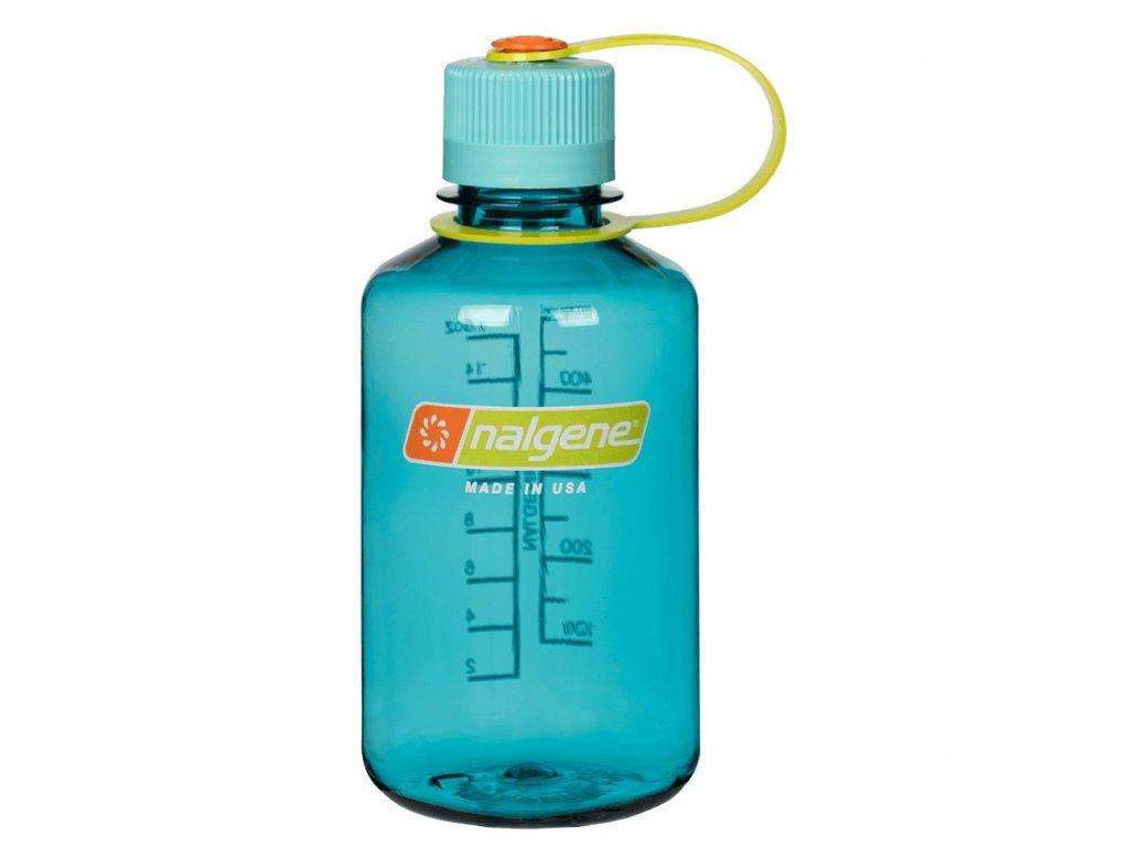 NALGENE láhev na pití nejen pro děti Narrow Mouth 500 ml Cerulean