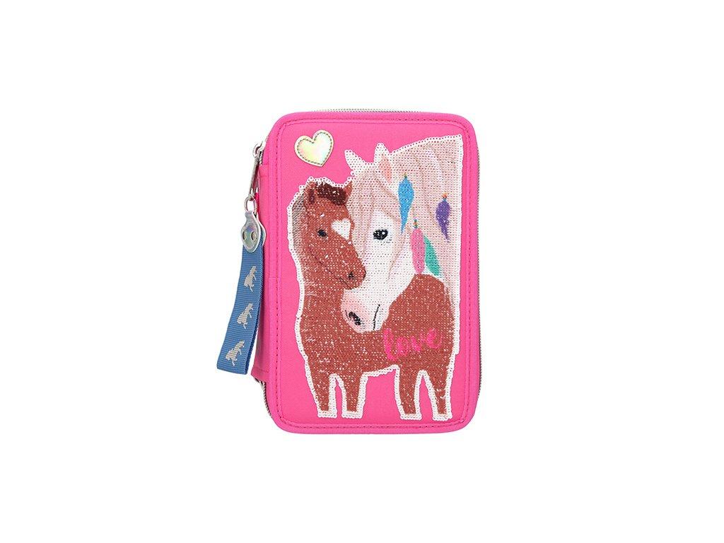 Miss Melody růžový penál s výbavou Dva koně 1