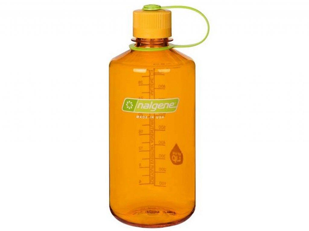 NALGENE láhev na pití s úzkým hrdlem Narrow Mouth 1000 ml Clementine 1