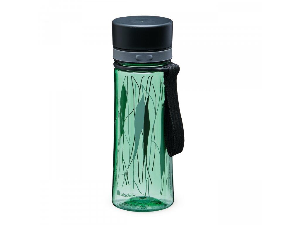 Aladdin kvalitní láhev na vodu Aveo Basil Green Print 350 ml 1